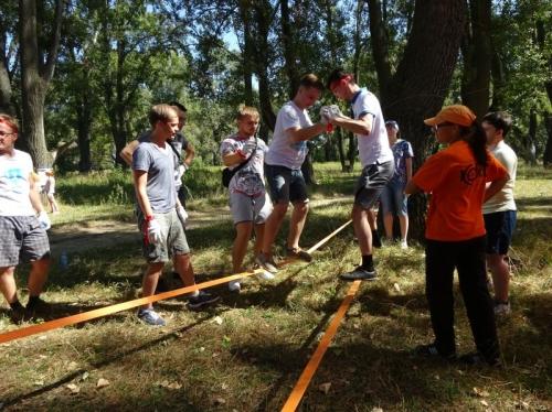 Инструкторы  - наши, упражнения - питерские. Совместная организация типового мероприятия - для подразделений Компании YOTA по всей России. Все, как всегда, прошло успешно! А на подготовку было - полтора дня:-)